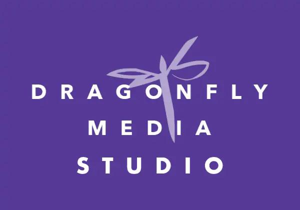 Dragonfly Media Studio Logo Purple Bkg