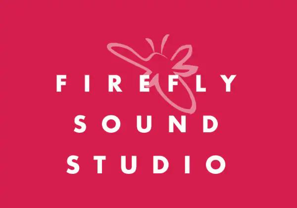Firefly Sound Studio Logo Red Bkg 2