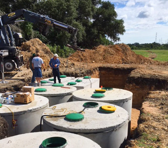 subdivision septic tank design and installation in Central Texas